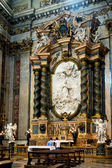 Side altar in the Jesuit church in Rome — Stok fotoğraf