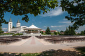 Pilgrimage church in Medjugorje — Stock Photo