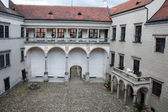 Courtyard of the castle in Telc — Stockfoto