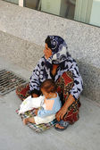 Woman beggar asking for money in Kusadasi, Turkey — Stock Photo