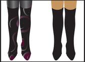 beautiful legs in beautiful boots vector — Stock Vector