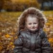 Stock Photo: Autumn portrait of cute smiling little girl