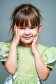 Fotoğraf makinesi portre küçük bir gülücük — Stok fotoğraf