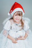 Christmas little girl — Stock Photo
