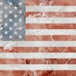 American Flag marble — Stock Photo