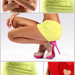 Stock Photo: Composition of girl with shoes and miniskirt