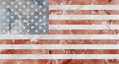 американский флаг мрамор — Стоковое фото