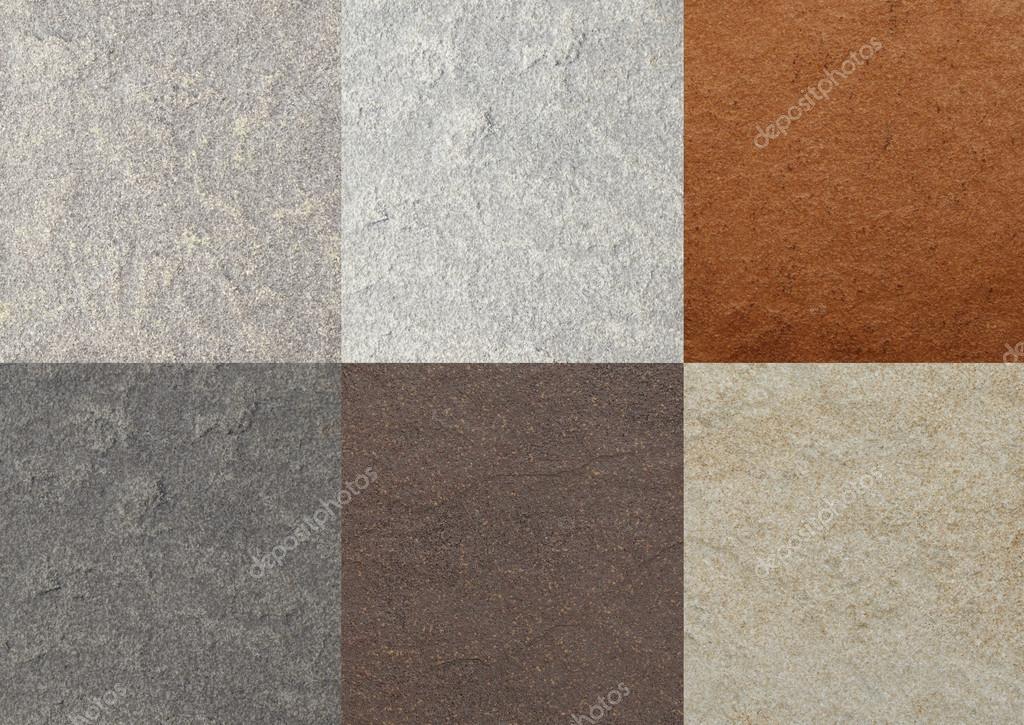 farbe marmor texturen fliesen collage stockfoto. Black Bedroom Furniture Sets. Home Design Ideas