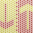 Arrow symbol on the tile with round red and yellow — Stock Photo #43849621