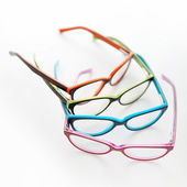 Composition of colored glasses — Stock Photo