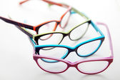 Composition of colored glasses — 图库照片