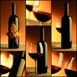 Wine, bottle, glass, collage of wine composition — Stock Photo #44504351