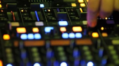 Dj music mixer console — Stock Video