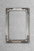 Silver picture frame on background with effects — Stock Photo
