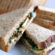 Filled sandwiches ready to eat — Stock Photo
