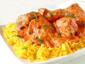 Indian curry on plate — Stock Photo