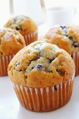 Grote blueberry muffins — Stockfoto