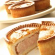 Stock Photo: Traditional British pork pies