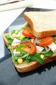 Salad sandwich on brown bread — Stock Photo