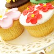Decorated cup cakes  — Stock Photo