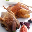 Roast partridge and pheasant — Stock Photo