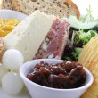 Traditional ploughmans lunch — Stock Photo