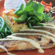 Stock Photo: Plated sebass meal on plate
