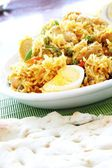 Pilaf with eggs — Stock Photo