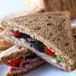 Wholegrain bread sandwich — Stock Photo