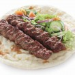 Stock Photo: IndiLamb Shish Kofte KoftKebab nasandwich
