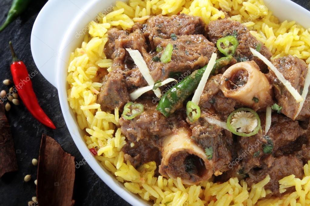 Indiana agnello al curry con riso pilaf foto stock for Piani di progettazione domestica indiana con foto