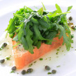Stock Photo: Smoked salmon starter