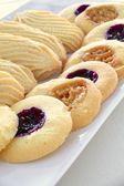 Filled shortbread biscuits — ストック写真