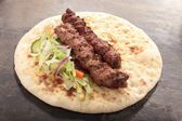 Tikka kofte shish donner naan sandwiches — Stock Photo