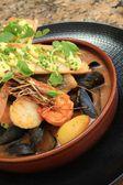 Traditional bouillabaisse fish stew — Stock Photo