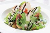 Chicken roulade salad plated meal — Stock Photo