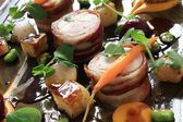 Chicken rabbit roulade platter — Foto Stock