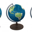 Globe world map — Stock Photo
