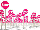 Signs stop — Stock Photo