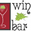 Logo wine bar — Stock Vector