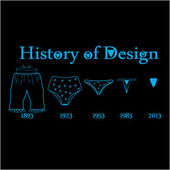 String and bloomers for t-shirt funny design — 图库矢量图片