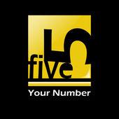 Five logo — Stock Vector