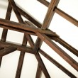 Wood roof construction — Foto Stock