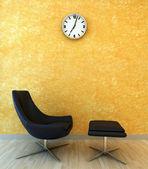 Interiérové scény s židlí pro relax — Stock fotografie
