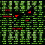 Hacker attack in internet — Stockvektor