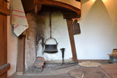 Old interior with fireplace — Stock Photo