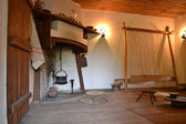 Old interior with fireplace — ストック写真