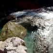 Flight down the Soca river — Stock Video