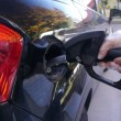 Stock Video: Refueling car