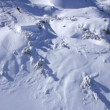 Stock Video: Snowboarder jumping